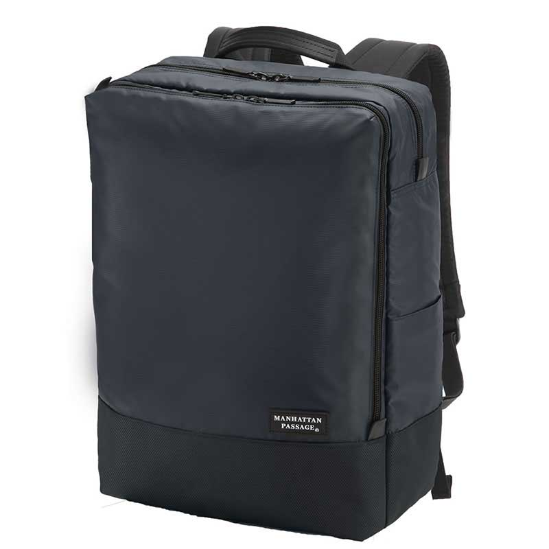 【ポイント10倍 クーポン配布中】 MANHATTAN PASSAGE マンハッタンパッセージ Well-Organized Backpack Plus2 ウェルオーガナイズド バックパック ビジネス リュクサック B4 ミッドナイトブルー #3215B-BL