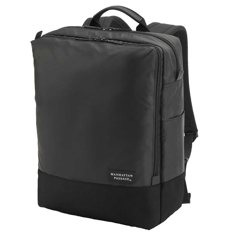 【ポイント10倍 クーポン配布中】 MANHATTAN PASSAGE マンハッタンパッセージ Well-Organized City Backpack Plus2 ウェルオーガナイズド シティ バックパック ビジネス リュクサック A4 ブラック #3216B-BK