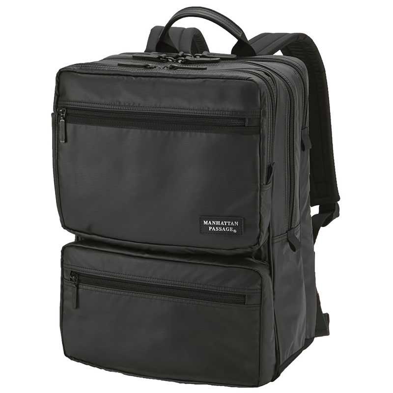 【ポイント10倍 クーポン配布中】 MANHATTAN PASSAGE マンハッタンパッセージ Multi-use Backpack Plus2 マルチユース バックパック ビジネス リュクサック B4 ブラック #3250B-BK