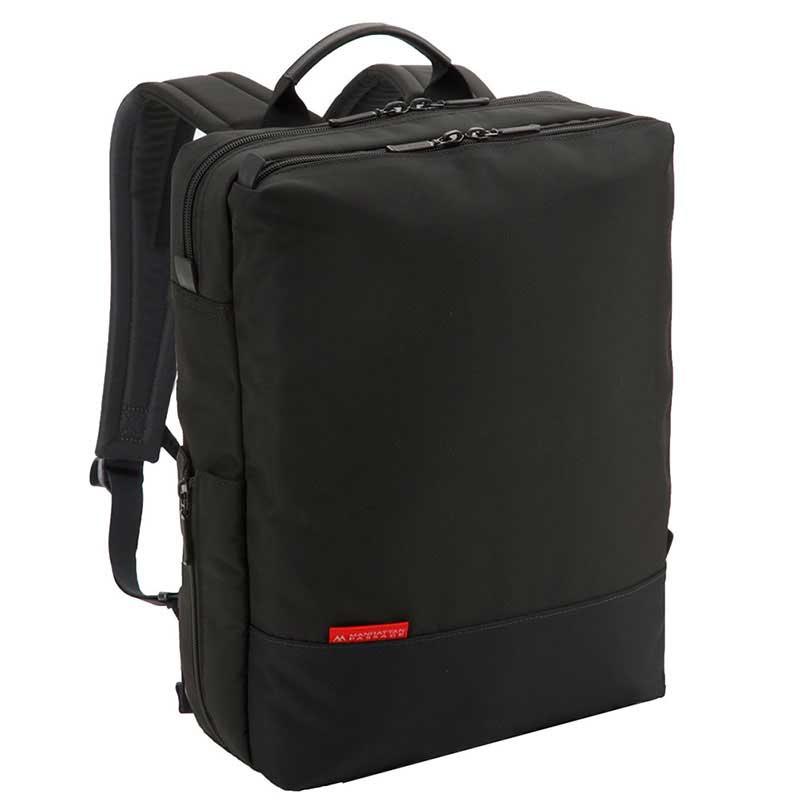 MANHATTAN PASSAGE マンハッタンパッセージ Well-Organized City Backpack Plus2 ウェルオーガナイズド シティ バックパック ビジネス リュクサック A4 ブラック #7016-BK