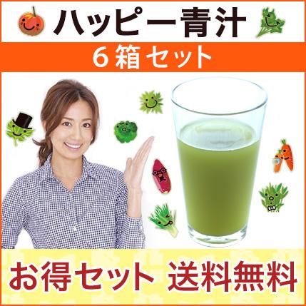 東原亜希のハッピー青汁6箱セット【送料無料】HAPPY AOJIRU2.5g×40包入×6箱セット