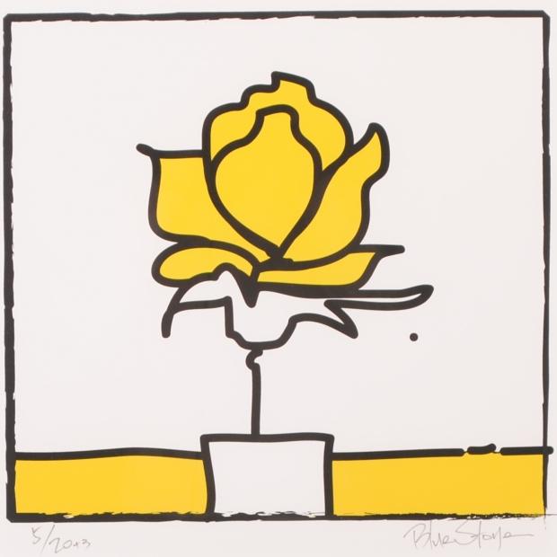 【作家名】ブルー・ストーン【作品名】POP薔薇2・スクエアL・イエロー