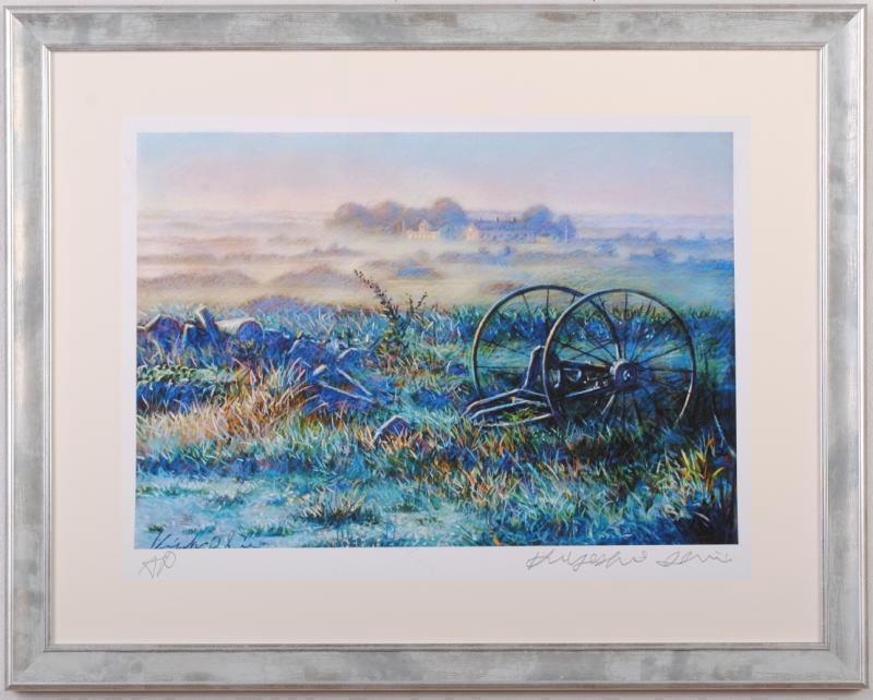 石井清先生がジークレーの版画に手彩を加えて制作した北欧の絵 輸入 牧場の朝 再入荷 予約販売 5 は2013年5月にリリースされたジークレーの版画です 石井清 作家名 作品名