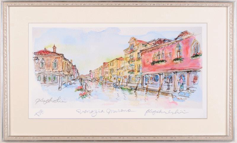 石井清先生がジークレーの版画で制作したイタリアの絵 ベネチア 全国一律送料無料 ムラーノ島 は 2017年にリリースされたジークレーの版画です 作品名 人気 石井清 作家名