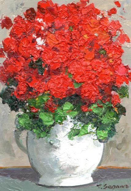 【作家名】瀬川竜夫 【作品名】赤い花