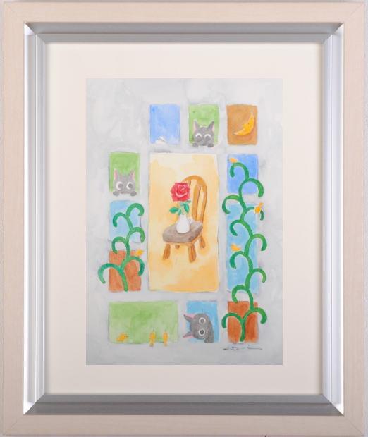 香月和夫さんが水彩画で描いた猫の絵 いちりん は 『1年保証』 一部予約 2013年8月に描かれた猫の絵画です 作家名 作品名 香月和夫
