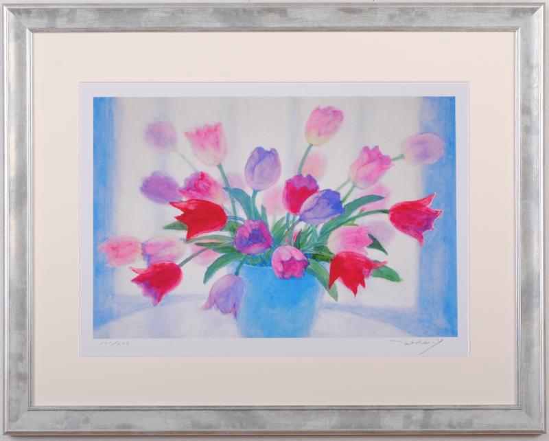 【作家名】山口英明【作品名】青い花瓶のチューリップ