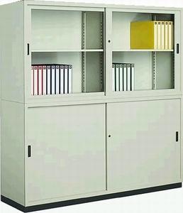 コクヨ (KOKUYO) スチール保管庫(奥深タイプ) S-D6355セット W1760ミリタイプ 上下組(ベース付) S-D6355GF1N+S-D6355F1N+S-615BF4 【送料無料】
