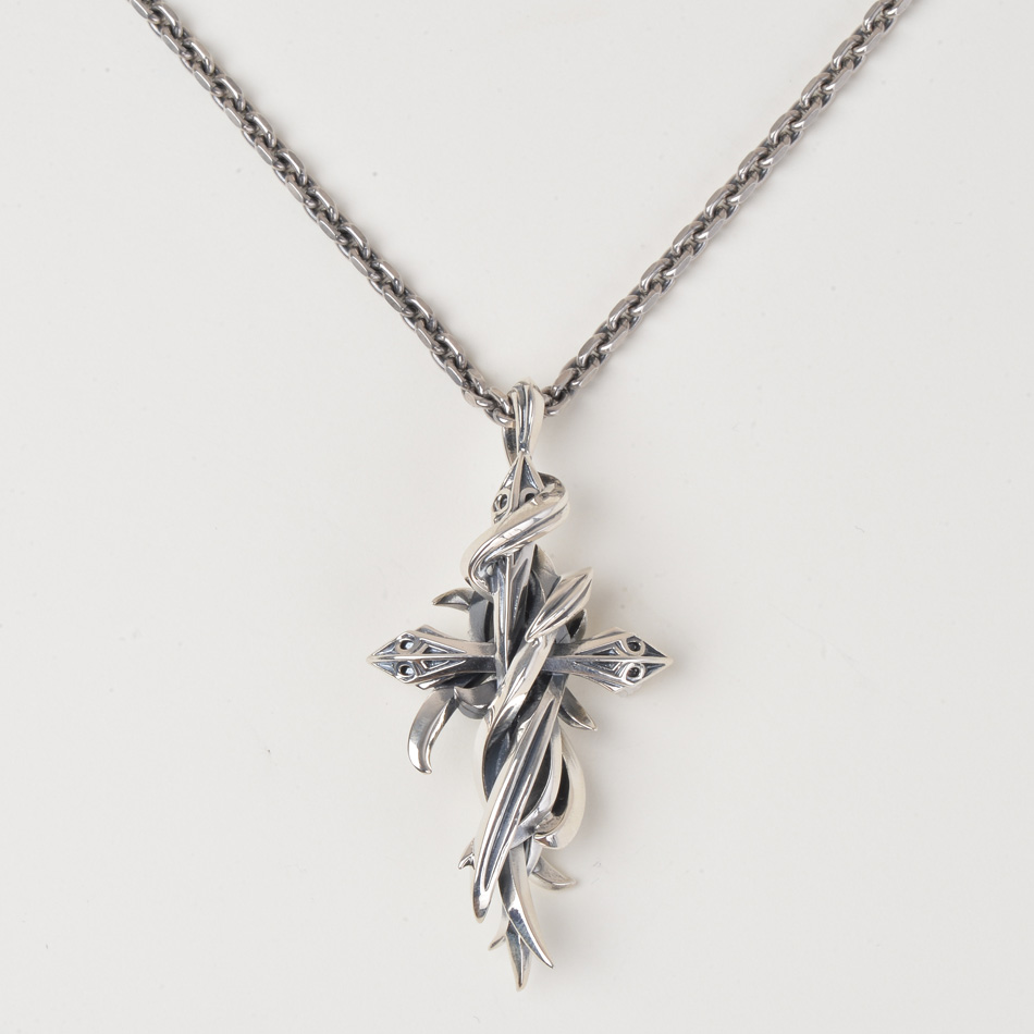 【MADE IN JAPAN】【M's collection】メンズ ネックレス シルバー ペンダント クロス ジュエリー アクセサリー silver925 シルバー925 ネックレス 送料無料 チェーン付き 記念日 ラッピング包装 X0238 プレゼント 母の日 卒業祝い 入学祝い 入社祝い
