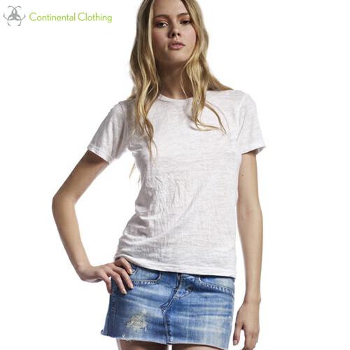 メーカー在庫限り品 バーゲン 6色 WOMEN'S BURNOUTメリヤスTシャツ ※アウトレット品 S~Lサイズ YDKG-kd 服 CONTINENTAL 運動会 コンチネンタル