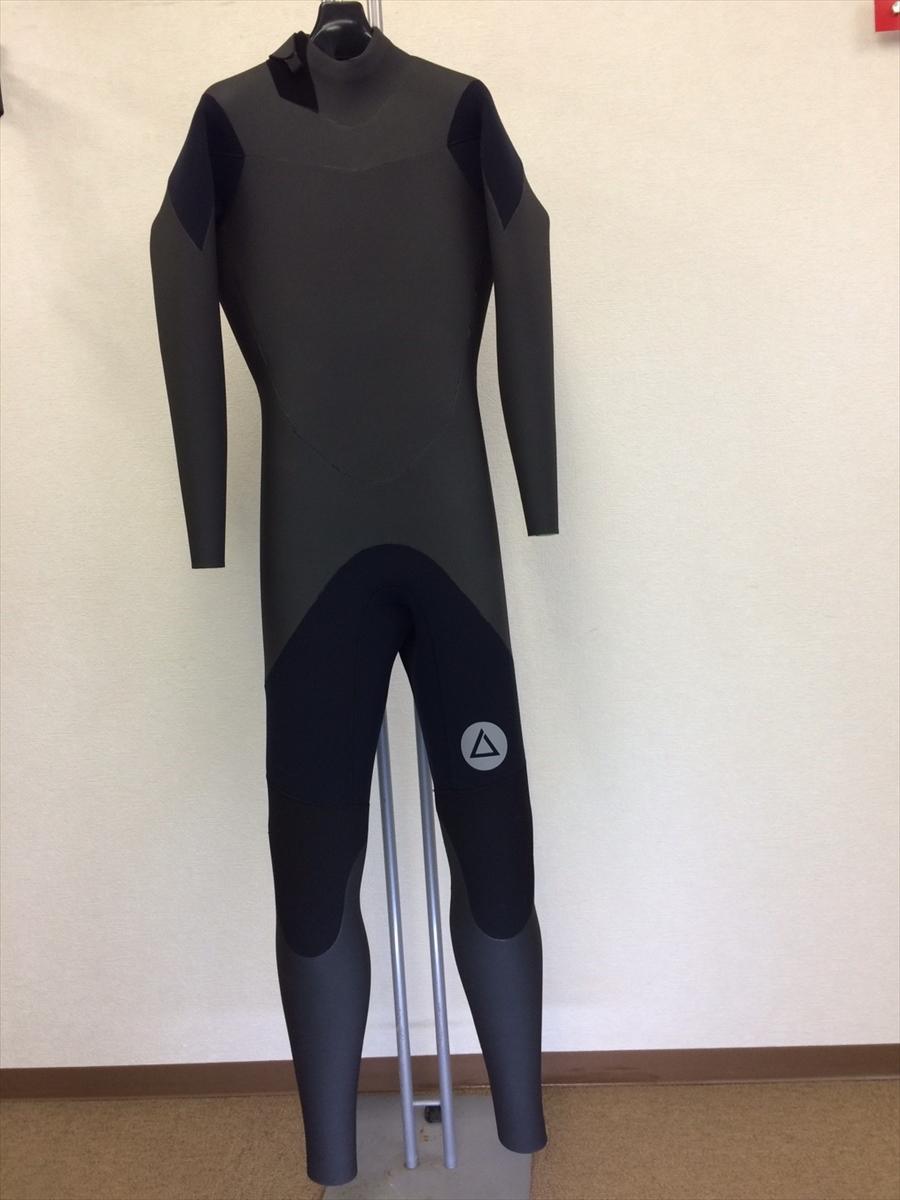 新品ウェットスーツ /バックジップ/ネックバリアフルスーツ/サイズ《メンズML》サーフィン専用