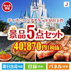 【あす楽】東京ディズニーリゾート1DAYパスポート ぺア 5点セットJ、景品、二次会景品、目録、ゴルフコンペ、忘年会、新年会、ディズニーランド