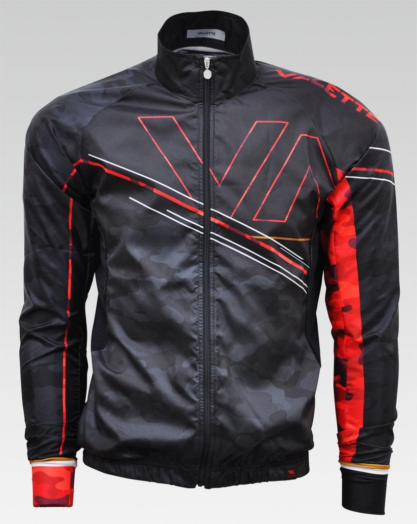 【VALETTE/バレット】RED CAMO(レッドカモ)立体ウインドブレーカー【サイクルジャージ/サイクルウェア/自転車/レプリカ/サイクル/ロードバイク/ウェア/ユニフォーム/ランニングウェア/フィットネスウェア】