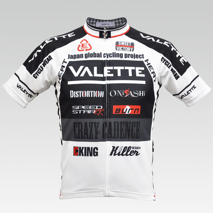 【VALETTE/バレット】SPEED (スピード)WHITE( ホワイト) 半袖 VALETTE A-LINE【サイクルジャージ/サイクルウェア/自転車/レプリカ/サイクル/ロードバイク/ウェア/ユニフォーム/ランニングウェア/フィットネスウェア】