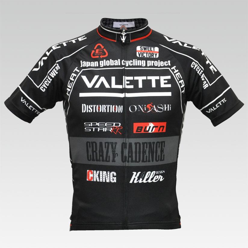 【VALETTE/バレット】SPEED (スピード)BLACK( ブラック) 半袖 VALETTE A-LINE【サイクルジャージ/サイクルウェア/自転車/レプリカ/サイクル/ロードバイク/ウェア/ユニフォーム/ランニングウェア/フィットネスウェア】