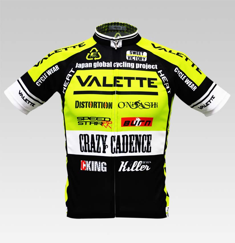 【VALETTE/バレット】SPEED (スピード)NEON YELLOW( ネオンイエロー) 半袖 VALETTE A-LINE【サイクルジャージ/サイクルウェア/自転車/レプリカ/サイクル/ロードバイク/ウェア/ユニフォーム/ランニングウェア/フィットネスウェア】