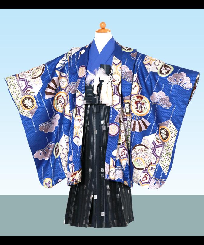 七五三 5歳 男の子 袴セット 購入品 青色系 通信販売 【セール値引き品】