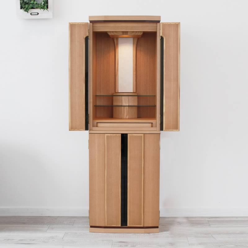 モダン仏壇 クリアー 送料無料 良質なタモ材を贅沢に使用した、床置きタイプのお仏壇です 家具調仏壇 モダン インテリア デザイン おしゃれ