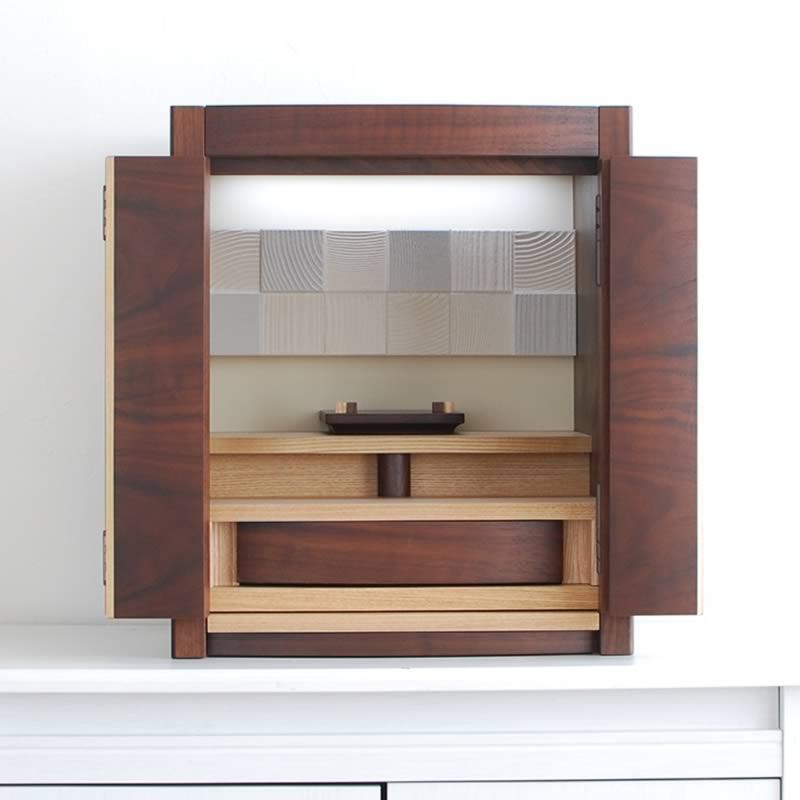 ミニ仏壇 アムール ウォールコンビ 送料無料 私たちのココロをつなぐ ミニ 家具調仏壇 モダン コンパクト インテリア デザイン おしゃれ
