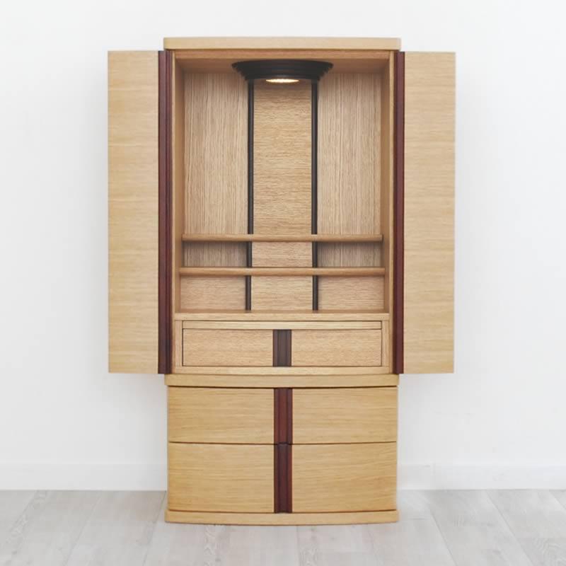 モダン仏壇 ノアナ オークライト 送料無料 ナチュラルテイストが包み込む 家具調仏壇 モダン インテリア デザイン おしゃれ
