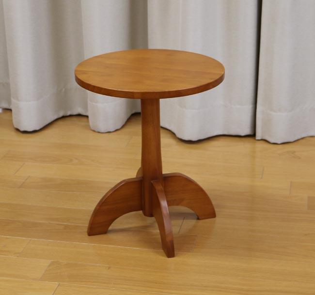 国産 中居木工 丸テーブル 40×40×高46