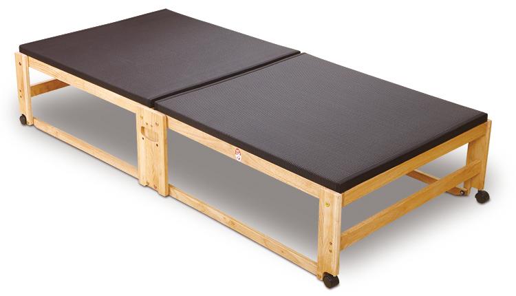 人気定番の 20万台突破 国産 中居木工 国産 黒畳 木製 らくらく折りたたみ式畳ベッド 20万台突破 木製 ハイタイプ シングル, ナカマシ:4a2f4eb2 --- daiteirigor.xyz