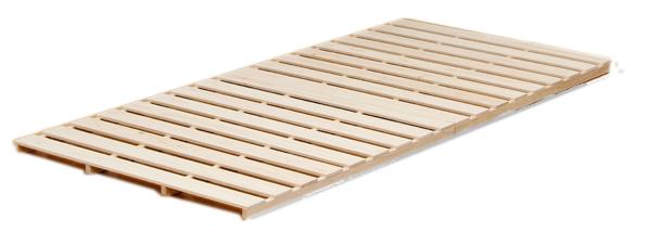 国産 中居木工 折りたたみ敷マットベッド ひのき スノコ 2つ折りタイプ シングル