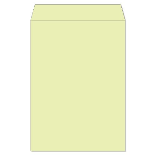 封筒 クラフトカラー封筒 角2 スチック ウグイス 85g ヨコ貼 枠なし 500枚 kd2233