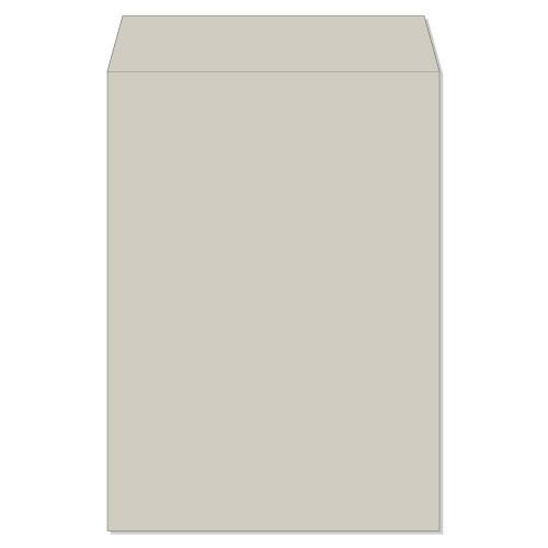 封筒 クラフトカラー封筒 角2 雑誌再生紙 グレー 100g センター貼 枠なし 500枚 ks0291