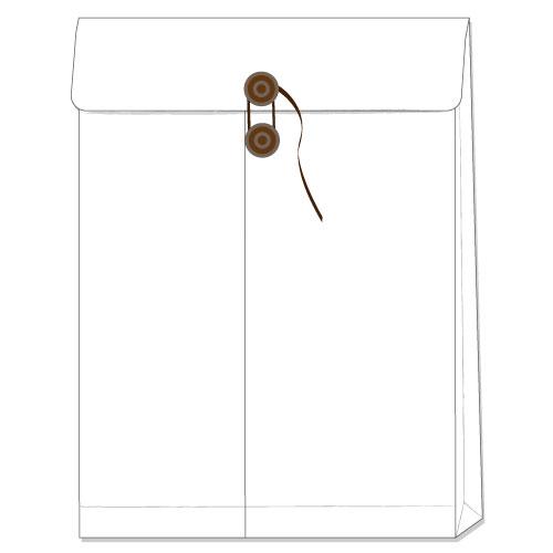 封筒 白封筒 角2 保存袋 ( マチ つき ) 再生ホワイト 120g 300枚 bw0214