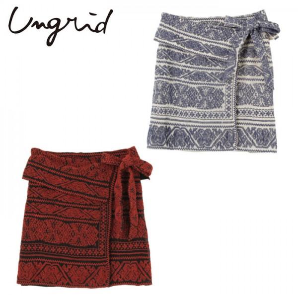 Ungrid(アングリッド)メッシュエンブロイダリーラップミニスカート(111710819001)2017Spring新作 スカート ラップ風 刺繍 レディース カジュアル 送料無料 代引手数料無料