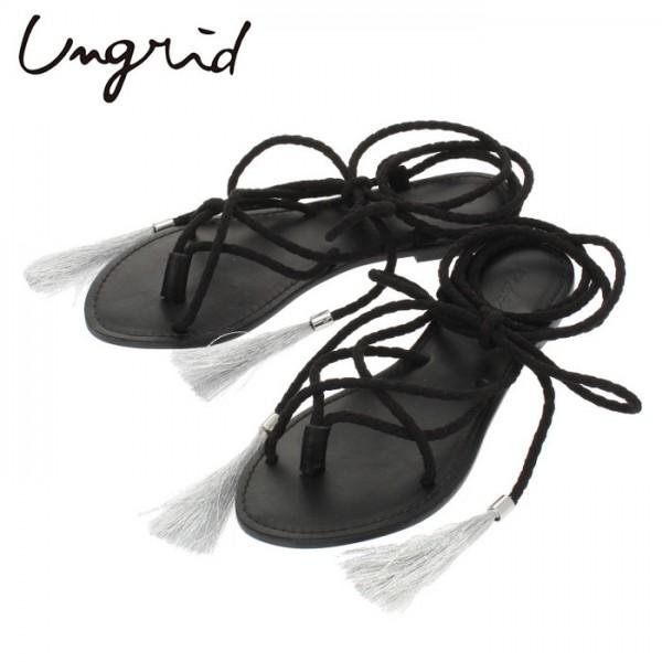Ungrid(アングリッド)レースアップフラットシューズ(111731814301)サンダル フラット レディース カジュアル 送料無料 代引手数料無料