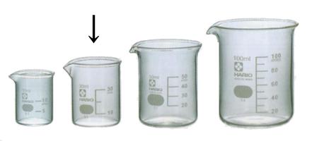 ビーカー (30ml) (サイズ:中)←写真の左側から2番目サイズ