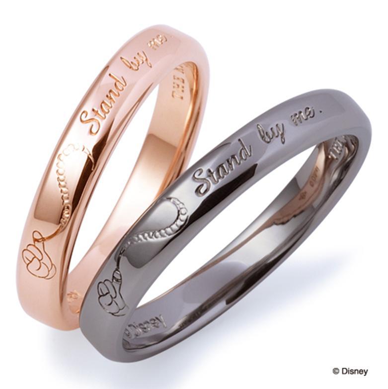 THE KISS ディズニー コレクション ペアリング 男性 女性 2個ペア シルバー リング ミッキー ミニー レディース メンズ ペア ハート シェアハート ザ・キッス お揃い 指輪 誕生日 記念日 メンズ