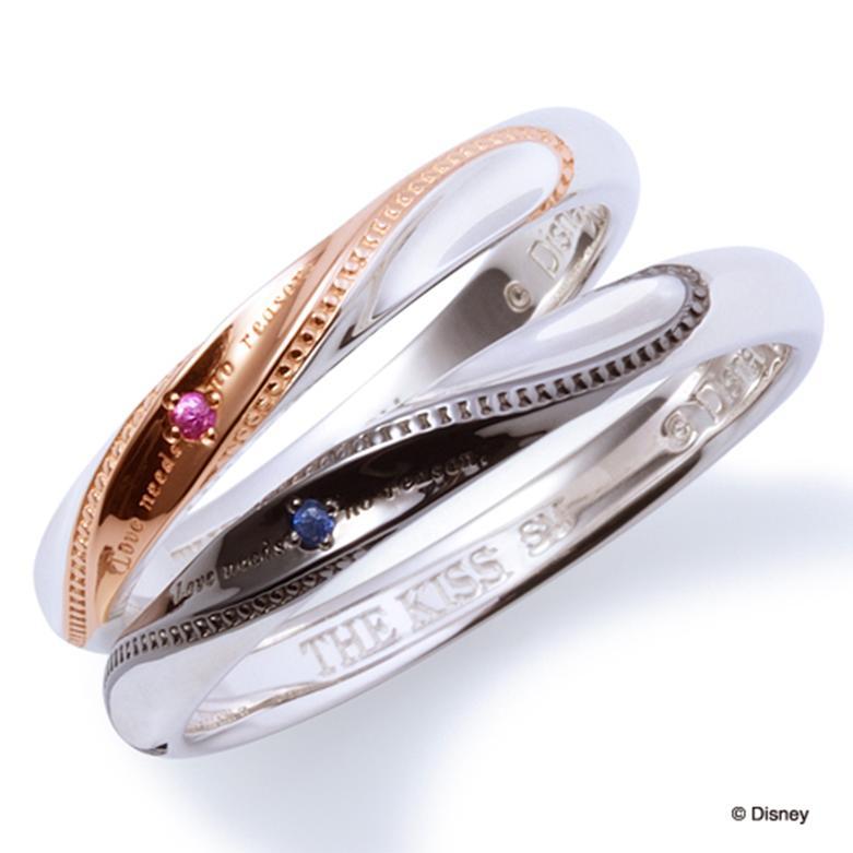 THE KISS ディズニー コレクション ペアリング 男性 女性 2個ペア シルバー リング ドナルド デイジー レディース メンズ ペア ハート シェアハート ザ・キッス お揃い 指輪 誕生日 記念日 メンズ 結婚指輪 刻印可能