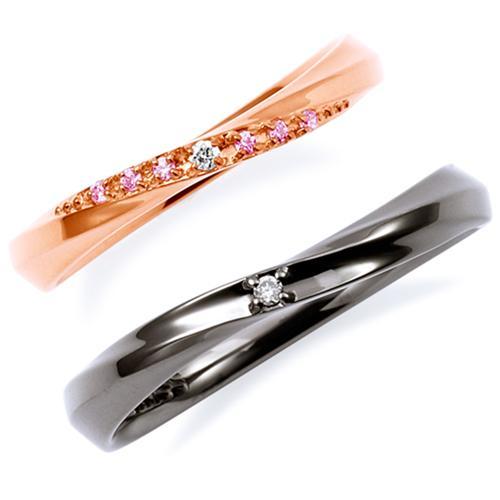 THE KISS ペアリング 男性 女性 2個ペア シルバー リング レディース メンズ ペア ダイヤモンド ザ・キッス カップル お揃い 指輪 誕生日 記念日 メンズ