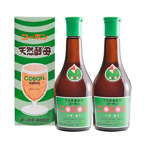 コーボン 525ml 梅(うめ)×2本セット 第一酵母 cobon 酵母飲料