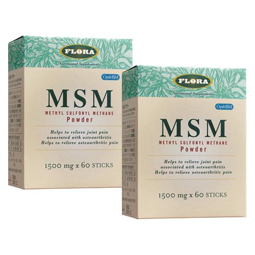 MSMパウダー (1500mg×60包)×2箱セット ( FLORAフローラ )msm サプリメント(送料無料)