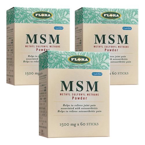 MSMパウダー 1500mg×60包×3箱セット( FLORAフローラ )(送料無料)
