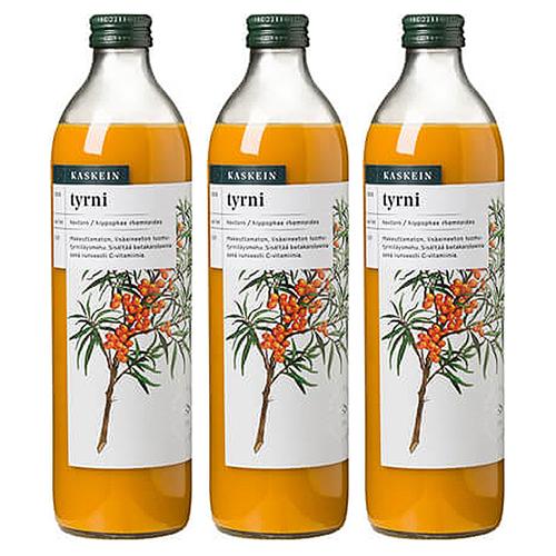 有機シーバックソーン100%ジュース×3本セット カスケイン(サジージュース)(シーベリージュース)KASKEIN 沙棘 日本緑茶センター