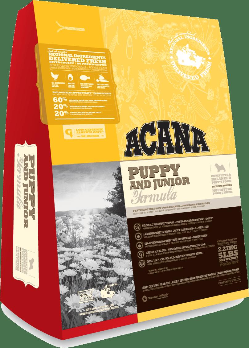 アカナ パピー&ジュニア (中型犬子犬用) 11.4kg ACANA 【犬用/ドッグフード/ドライフード/中型犬/子犬】 【送料無料】