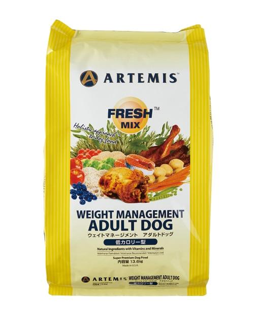 アーテミス フレッシュミックス ウェイトマネジメント アダルトドッグ 13.6kg ARTEMIS 【犬用/ドッグフード/ドライフード/小型犬/中型犬/大型犬/成犬】 【送料無料】