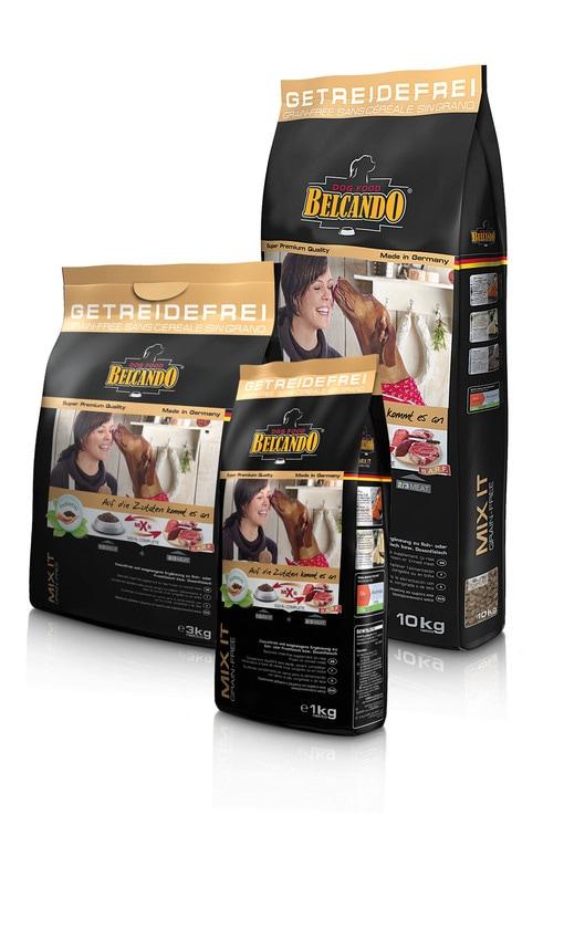 ベルカンド ミックスイット グレインフリー 10kg (生肉、冷凍肉、缶詰と一緒に与える犬用補助食品) BELCANDO 【犬用/ドッグフード/ドライフード/中型犬/大型犬/成犬】 【送料無料】