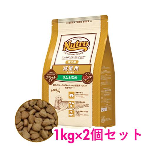 ナチュラルチョイス NATURAL 大幅値下げランキング CHOICE ニュートロ スペシャル ケア 1kg×2個セット 全犬種用 最安値 ラム 成犬用 玄米 減量用