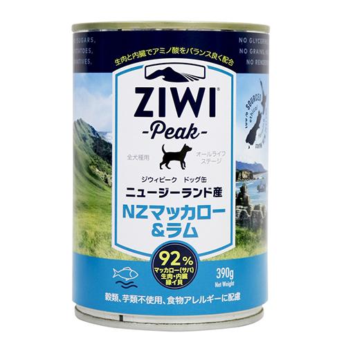 ジウィピーク ドッグ缶 マッカロー&ラム390g× 12缶セット