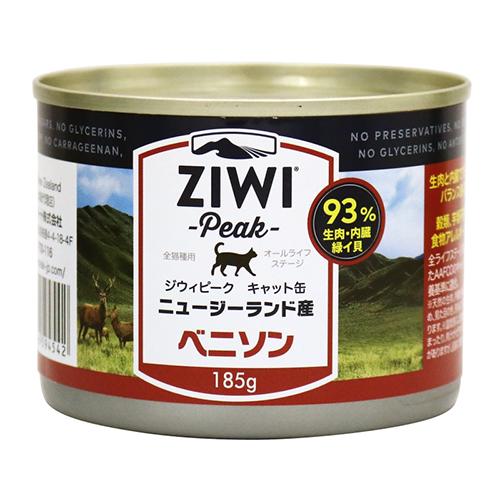 ZiwiPeak ジウィピーク キャット缶 セール品 ☆国内最安値に挑戦☆ ベニソン185g× 12缶セット
