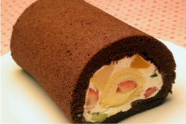 Roll fruit roll (18 cm) shipping only (the birthday cake birthday cake suites Christmas cake Christmas cake) 02P05Dec15