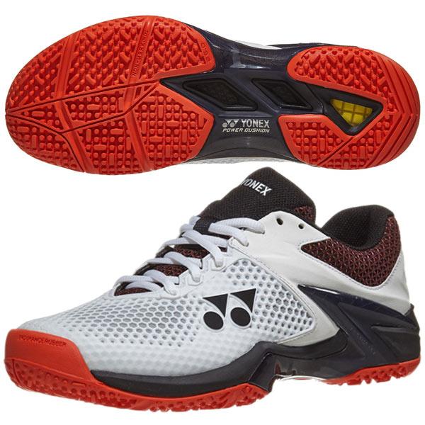 【SALE】ヨネックス メンズ テニスシューズ パワークッション エクリプション 2 GC (クレー・オムニコート用) ホワイト×オレンジ (SHTE2MGC)