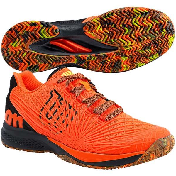 ウィルソン メンズ テニスシューズ KAOS 2.0 AC (オールコート用) ショッキングオレンジ×ブラック×セーフティイエロー (WRS325590)