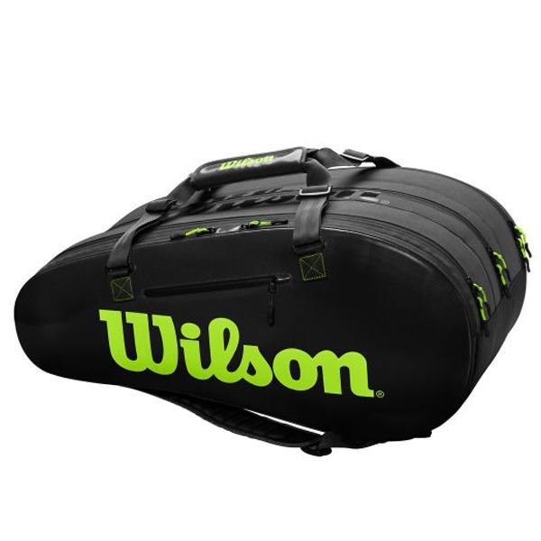 ウィルソン テニス ラケットバッグ SUPER TOUR 3COMP (ラケット15本収納可能) (WR8004101001)